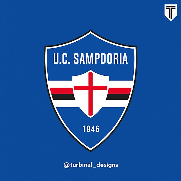 UC Sampdoria Crest Redesign