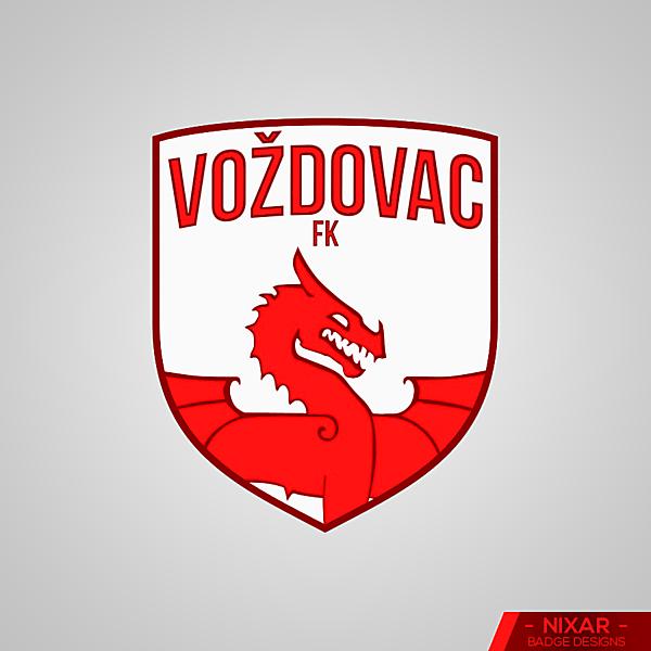 Voždovac FK Badge Redesign by Nixar