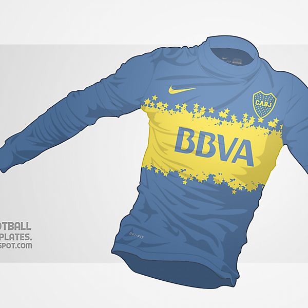 2014 Boca Juniors Nike Home Shirt