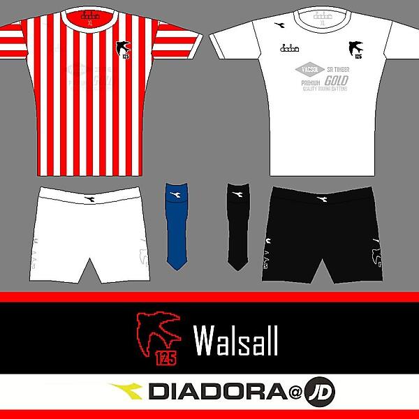 Walsall 125 Diadora Home and Away