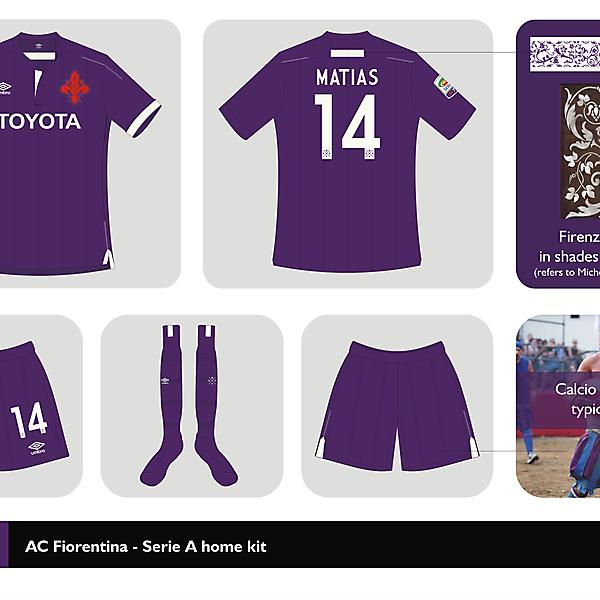 AC Fiorentina home kit Serie A