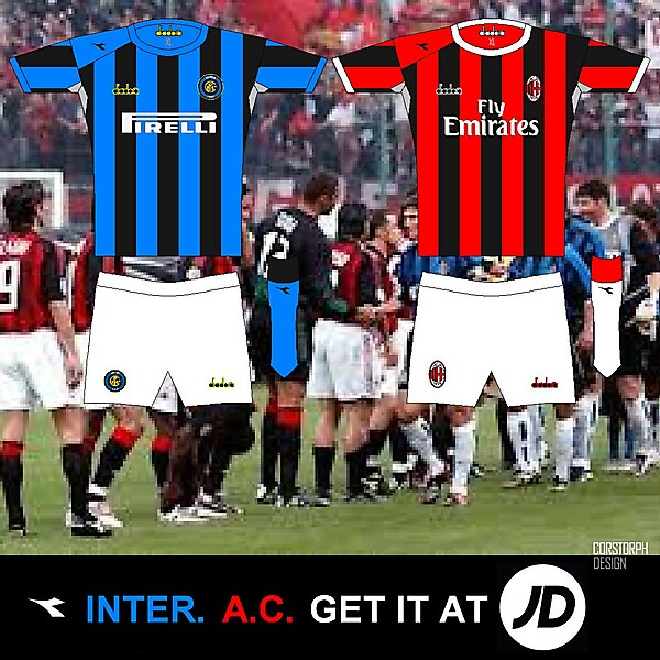AC and Inter Milan Home diadora @ JD concept