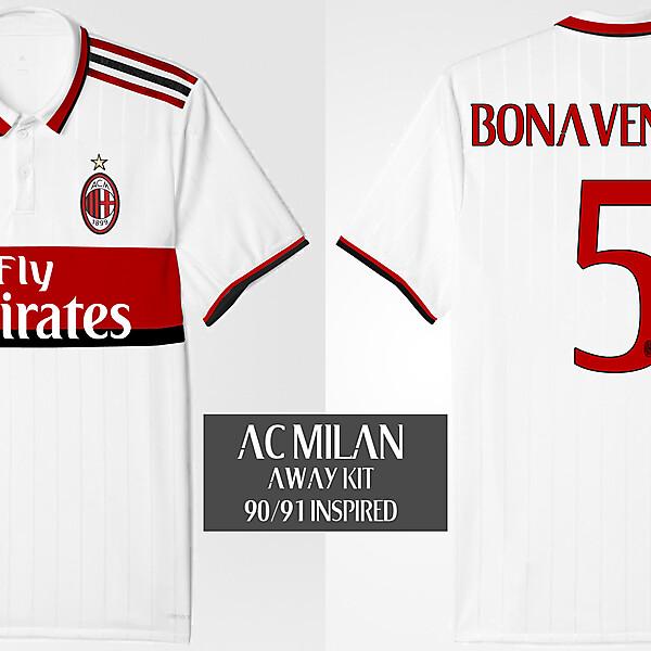 AC Milan Away Kit 90/91 Inspired