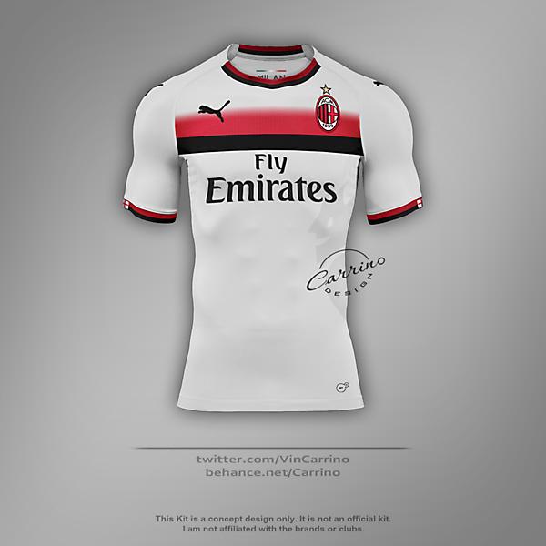 AC Milan Away Shirt (Option B) | Concept Design