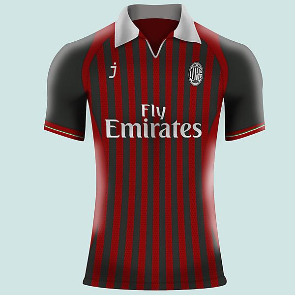 AC Milan home jersey by J-sports