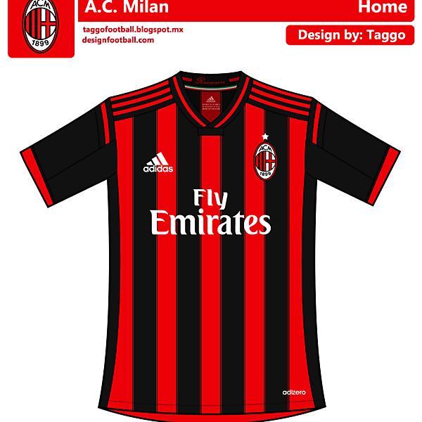 AC Milan Home kit