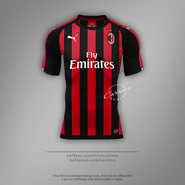 AC Milan Home Shirt | Concept Design