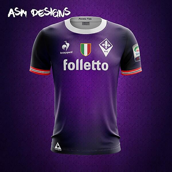 ACF Fiorentina Le Coq Sportif 2018 Home Kit