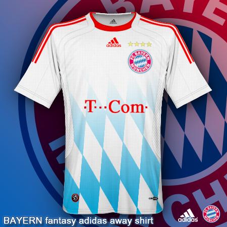 Bayern fanstasy adidas away shirt
