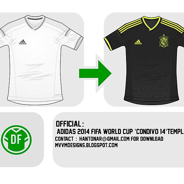 Adidas Condivo 14 Template : Spain