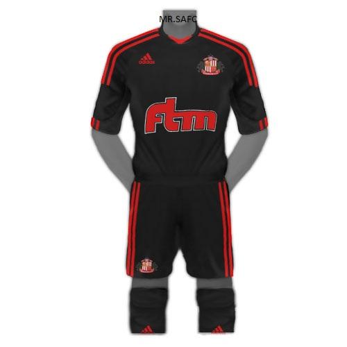 Adidas Sunderland Away kit 2011/2012