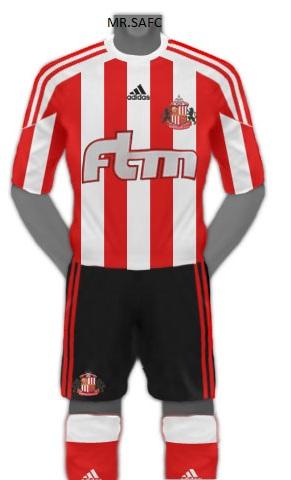 Adidas Sunderland Home kit 2011/2012