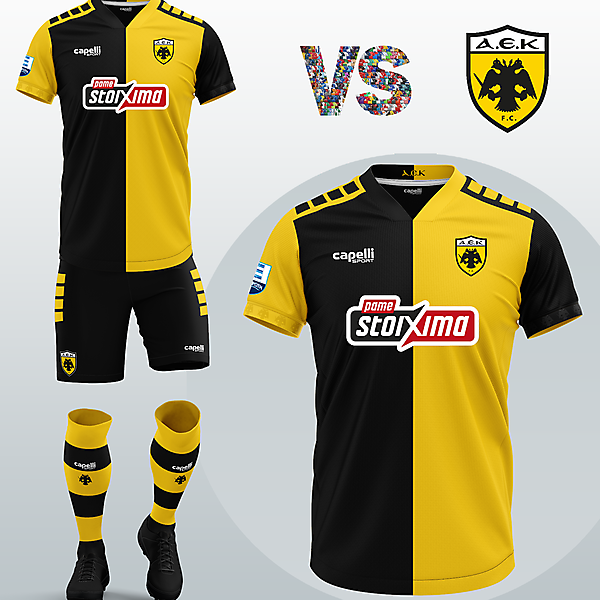 AEK Athens FC Home kit with Capelli Sport (2020/21)