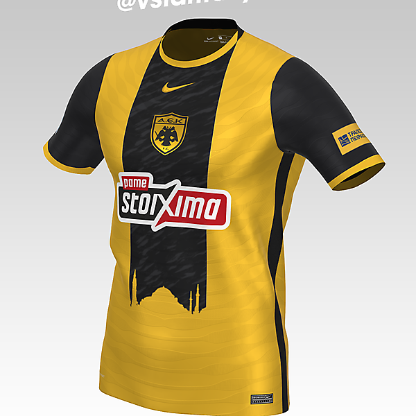 AEK Athens FC Home kit with Nike