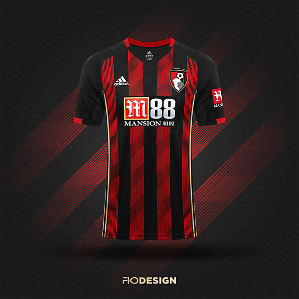 AFC Bournemouth    Adidas Home Jersey