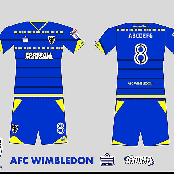 AFC Wimbledon 2017 Home kit
