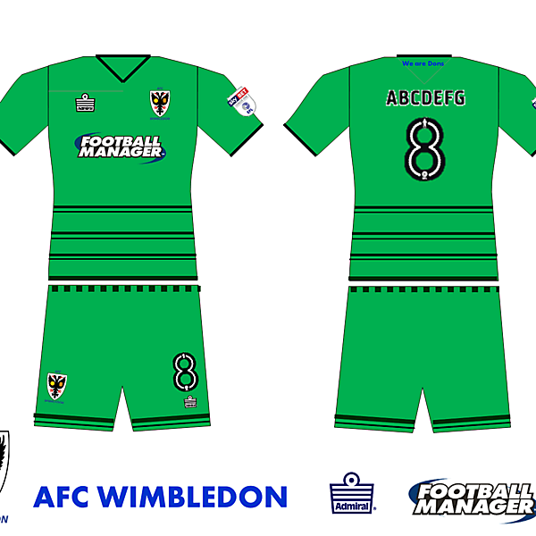 AFC Wimbledon goalkeeper kit