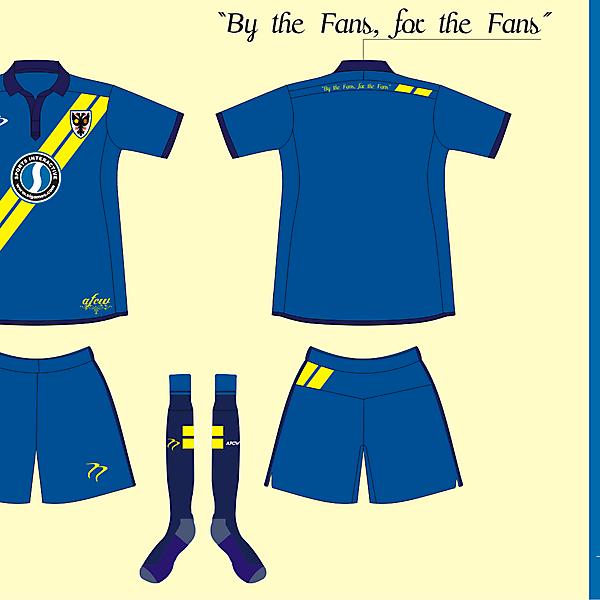 AFC Wimbledon Home kit version 1