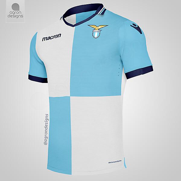 Agron Designs is at Stadio Olimpico Di Roma. 4 mins · Rome, Italy ·  Macron Lazio Home Kit Concept