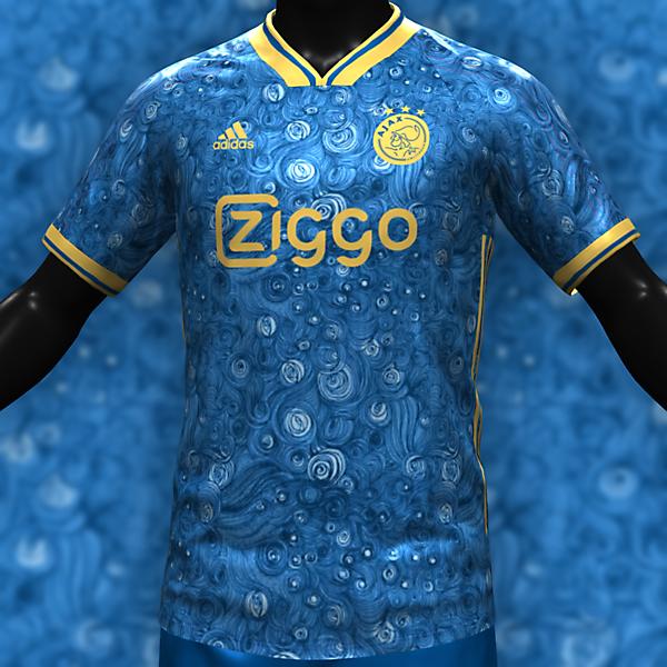 Ajax X Van Gogh Third Kit 2022_2023