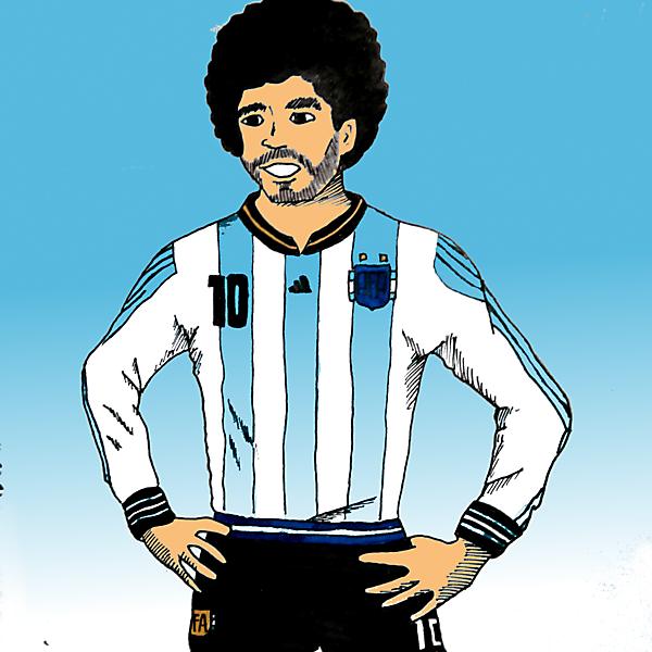 Argentina Football Team Home Kit (Maradona model)