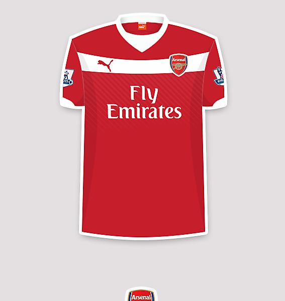 Arsenal 14-15 home fantasy jersey.