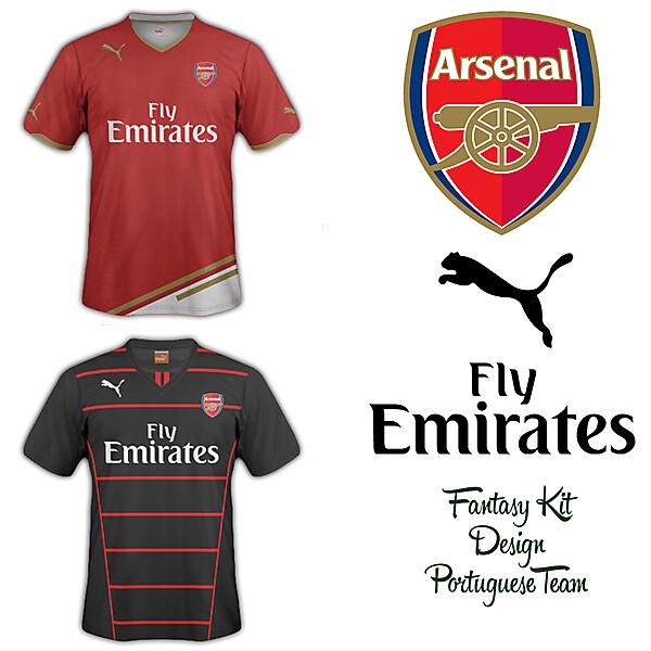 Arsenal Home and Away Fantasy Kit 2014/2015