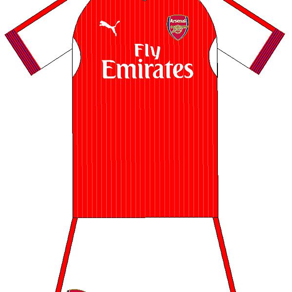 Arsenal Home Kit Experiment 2016-17