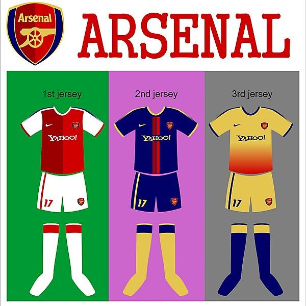 my kit design: arsenal