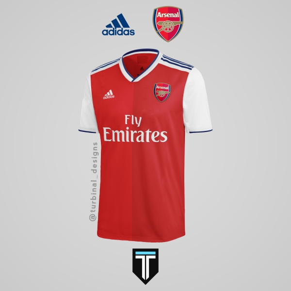 Arsenal x Adidas - Home Kit Concept