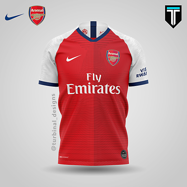 Arsenal x Nike - Home Kit Concept