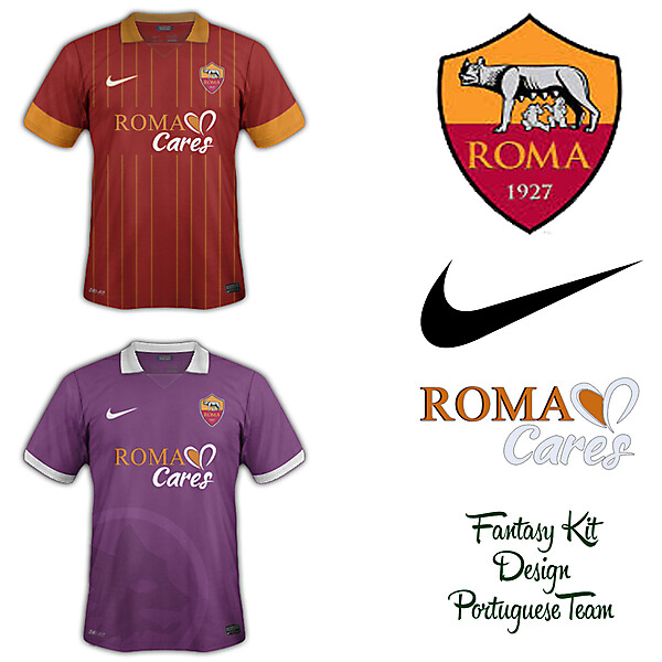 AS Roma Home and Away Fantasy Kit 2014/2015