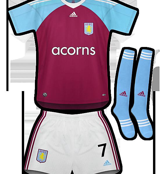 Aston Villa Home Kit 09/11