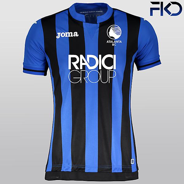 Atalanta BC 18-19 Home Shirt with New Crest