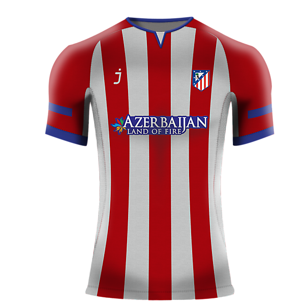Atletico de Madrid home jersey by J-sports