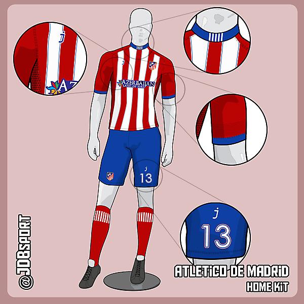 Atletico de Madrid home kit by J-sports