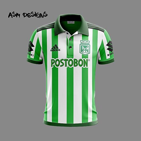 Atlético Nacional 2019 Adidas Home Kit