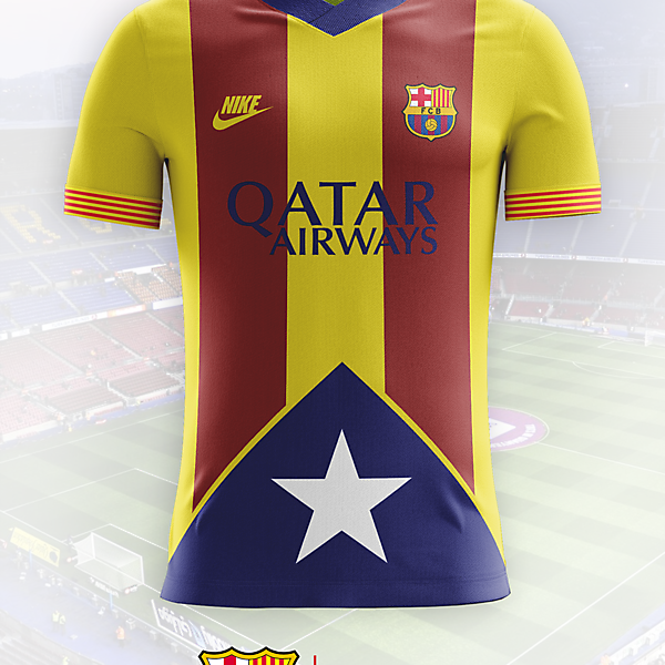 Barcelona Catalan Flag Away Shirt