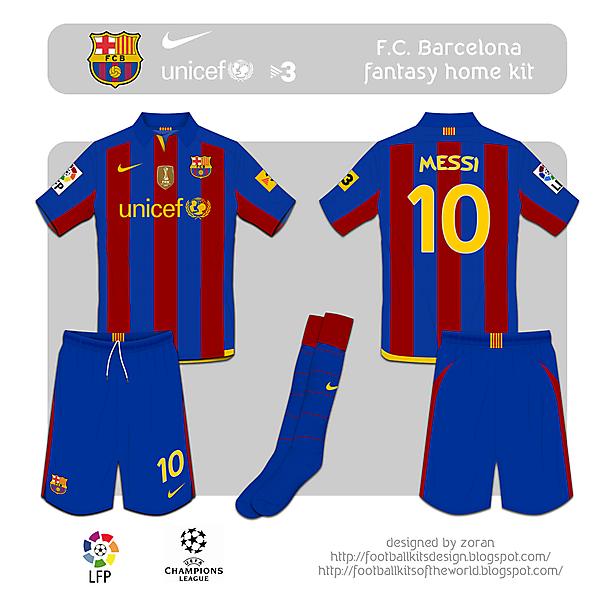 F.C. Barcelona fantasy home