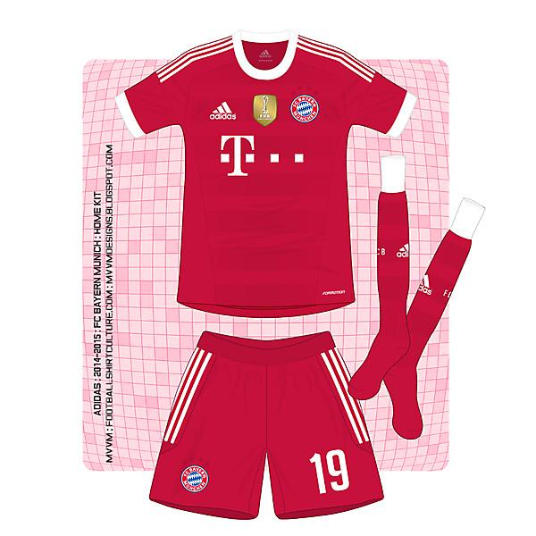 Adidas : Bayern Munich : Home Shirt