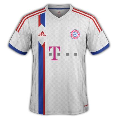 Bayern Munich Away kit 2015/16 with Adidas