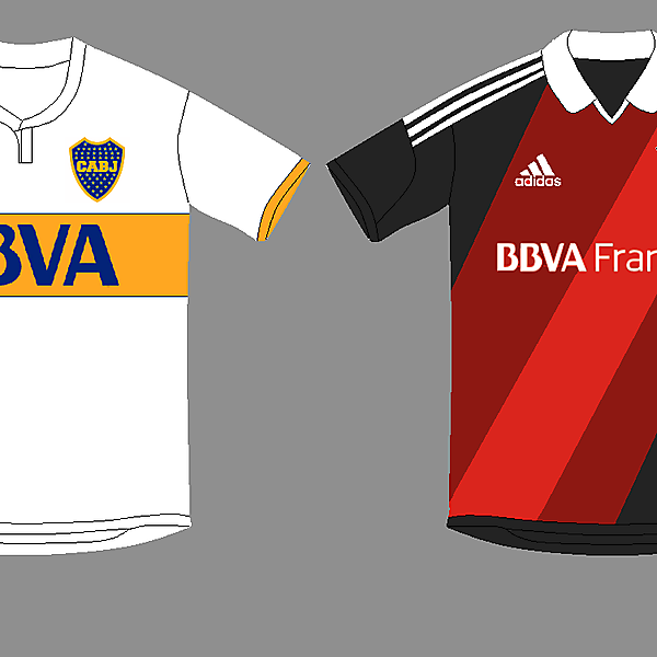 Boca & River Away kits