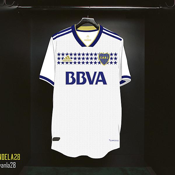 Boca Jrs Away Kit Adidas V2