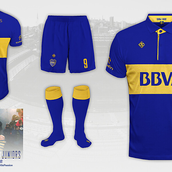 Boca Juniors fantasy kit.