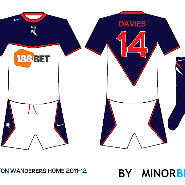 Bolton Wanderers home kit