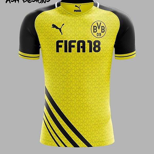 Borussia Dortmund Puma 2018 Home Kit
