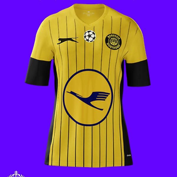 Borussia Dortmund Retro Home Kit (By Slazenger)