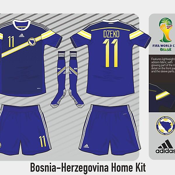 Bosnia-Herzegovina Home Kit - WC Competition