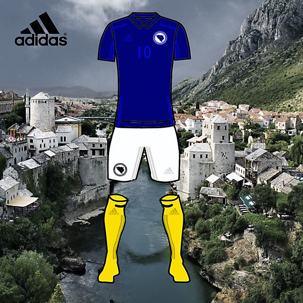 bosnia football home kits 2017