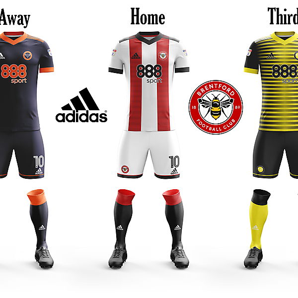 Brentford Home, Away and Third Concepts